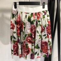 Летние короткие юбки женщин 2018 женские с цветочным принтом Юбки Лето мини юбка женские