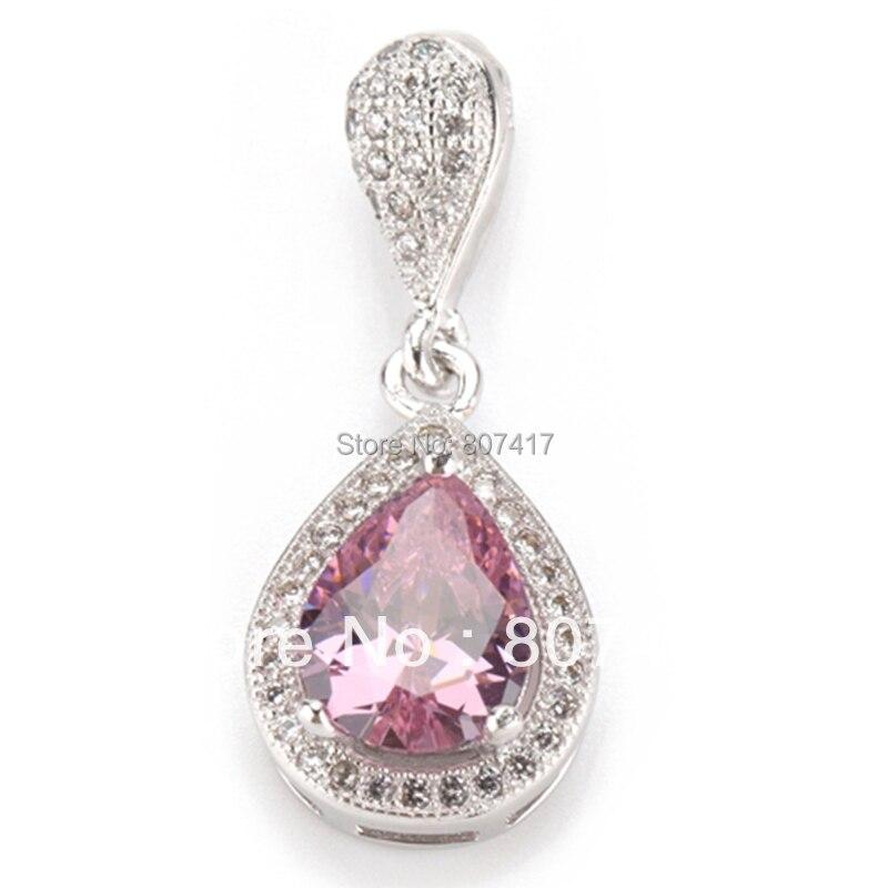 SHUNXUNZE New pattern Pink Cubic Zirconia beautiful Fashion jewelry Silver Plated Favourite Hot Recommend Sporty Pendants R3228