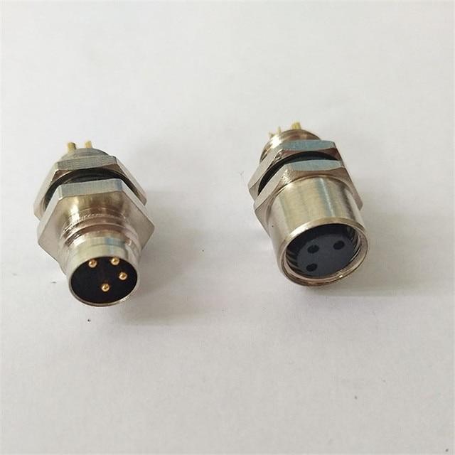 1PCS SS029 M8 flange socket female/male 3PIN 4PIN sensor encoder connector Panel connector plug Free shipping