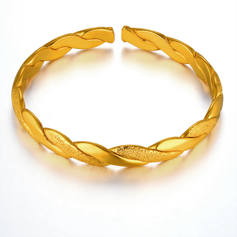 Vintage Indian Bangles Gold Color, Wholesale  Gold Color Cute Love Baby Bangle Bracelet High Quality Wedding Jewelry