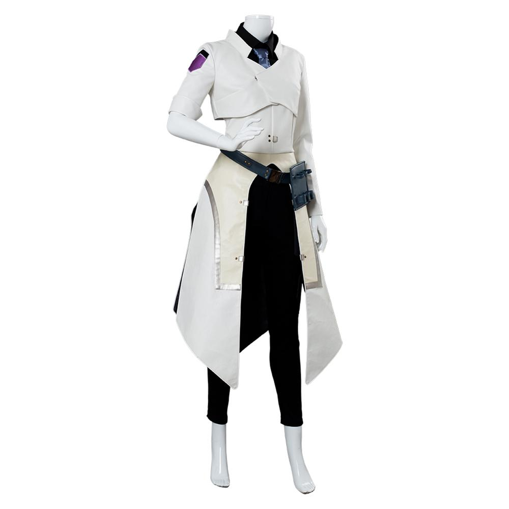 Overwatch OW Moira O/'Deorain Cosplay Scientist Skin Costume Uniform Full Set//