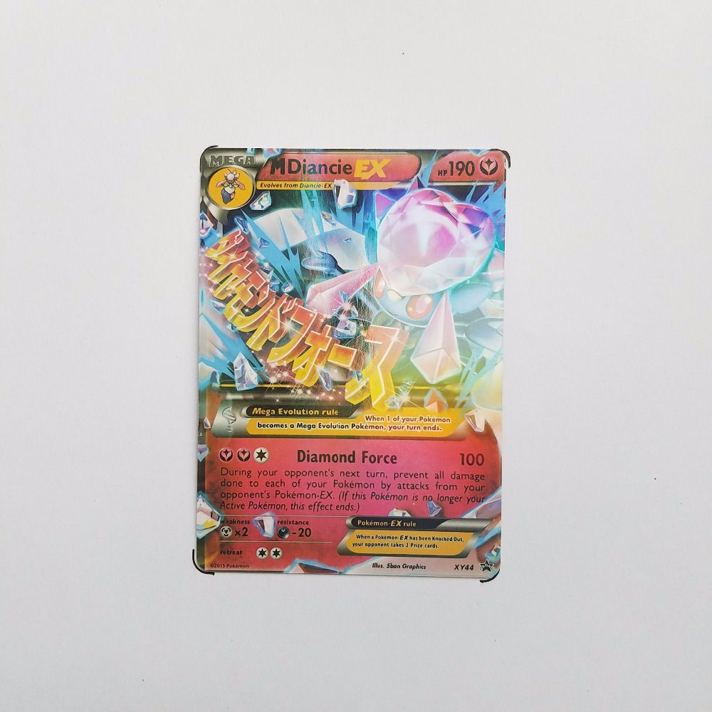 Pokemon Card Single Sale MEGA M-30001 MDiancie ystery Card Play Anime Hot Toys Cards Game Trading Collection Children Gift