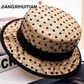 2019 Hot black lace sun hats bow hand made women straw cap beach big brim hat casual girl summer cap 55-58cm