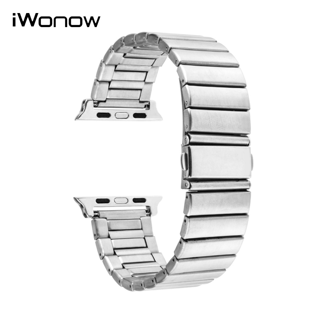 Stainless Steel Watchband + Adapters + Tool for iWatch Apple Watch 38mm 42mm Replacement Band Wrist Strap Link Belt Bracelet stainless steel watchband with adapter tool for iwatch apple watch 38mm 42mm safety buckle band link strap wrist belt bracelet