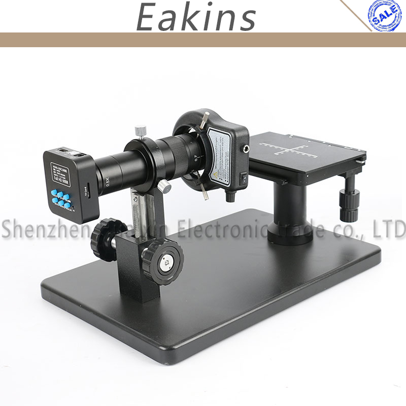 16MP Full HD 1080P 60FPS HDMI Digital Industry Video Microscope Camera +Horizontal Table Stand+ 180X C-MOUNT Lens+144 LED Light high quality 16mp full hd 1080p 60fps hdmi usb hd output industry c mount microscope video camera 180x 300x c mount lens 32 led