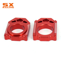 Motorcycle CNC Rear Chain Adjuster Axle Block For HONDA CR125R CR250R 02 07 CRF250R CRF250X 04