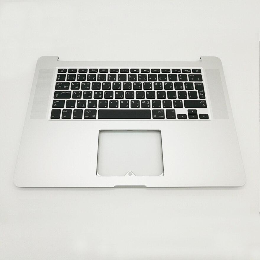 НОВЫЙ АР арабский Топ корпус клавиатуры и Подсветка для MacBook Retina 15 A1398 me293 me294 2013 2014 лет ...