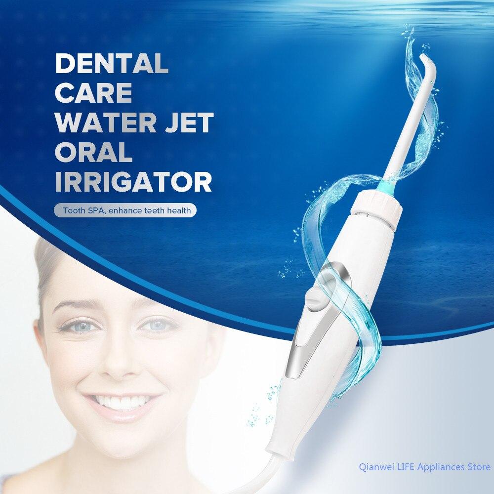 Flosser Dental chorro de agua cuidado bucal limpiador de dientes irrigador serie portátil irrigador Oral agua Flosser irrigador Dental hilo Dental