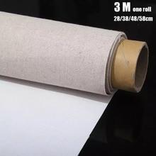 Профессиональный пустой холст для рисования слой Акриловая картина маслом холст льняная смесь грунтованные товары для рукоделия для художника 3M в одном рулоне