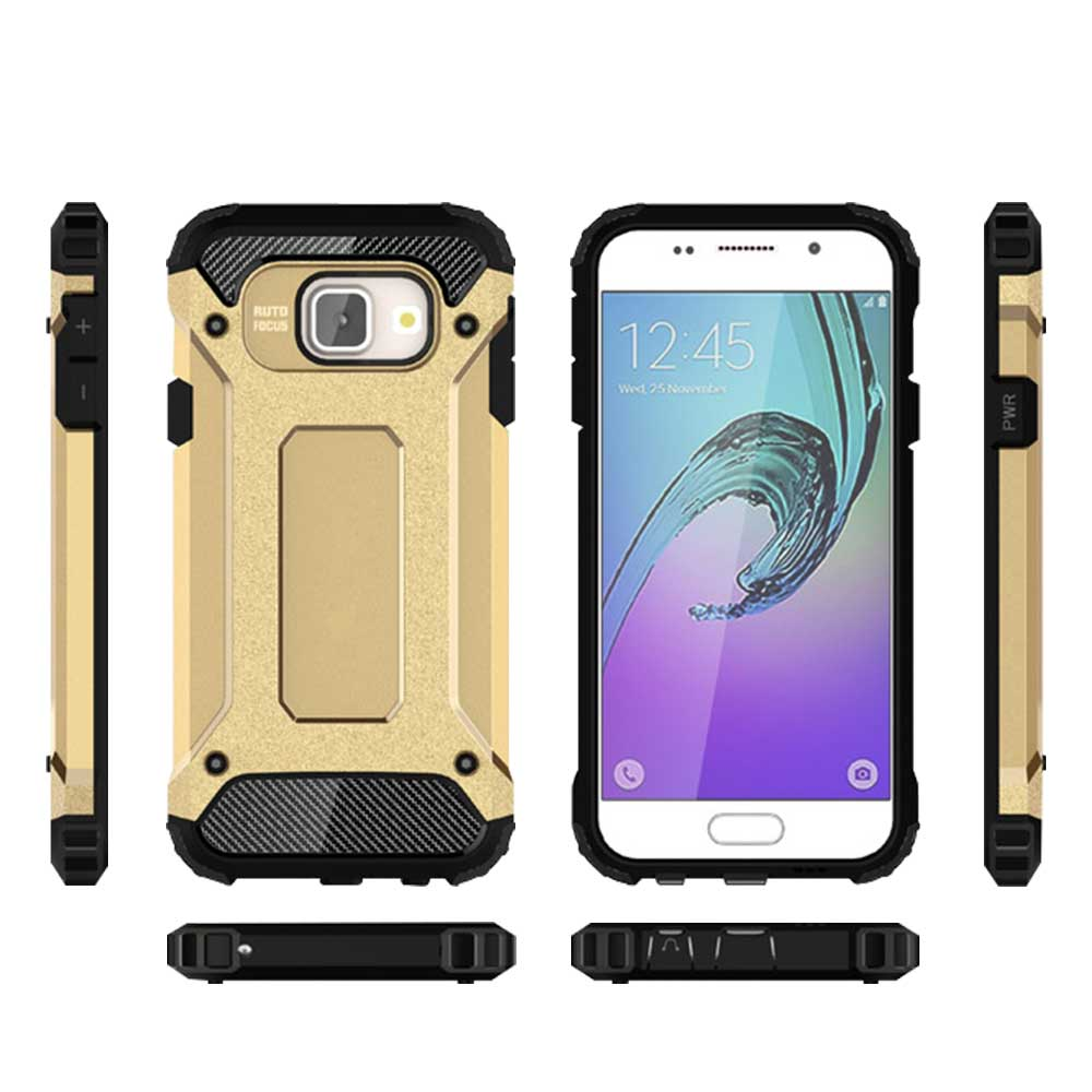 Case For Samsung Galaxy A3 A5 A7 2016 A310 A510 A710 Luxury Plastic Silicon 2 in 1 Smart Back Armor Cover Phone Bags & Cases