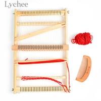 Lychee Wooden Weaving Knitting Machine Traditional Multi functional Weaving Machine