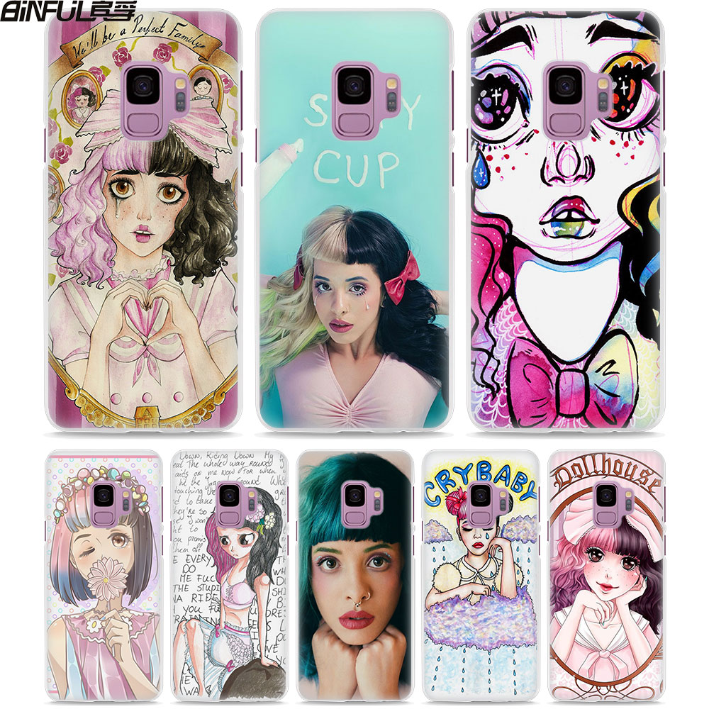 BiNFUL Melanie Martinez Cry Baby style White hard Phone Case Cover for Samsung Galaxy S9 S9Plus S8 Plus S6 S7 edge Note 8 5