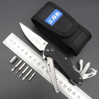 SRM7116 Outdoor EDC Pocket Knife With Multi Functional Tool Saw Belt Cutter Glass Breaker Screwdriver Bit