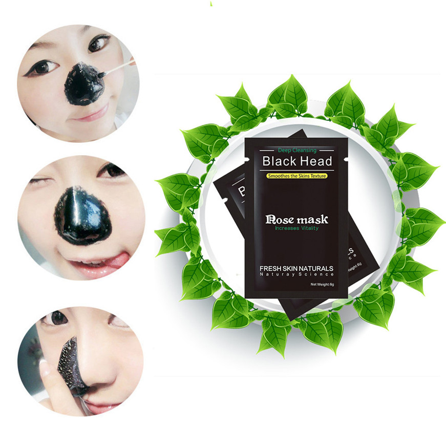 2017 black face 1PC lackhead Remover Black Mud Deep Cleansing Purifying Peel Acne Face Mask