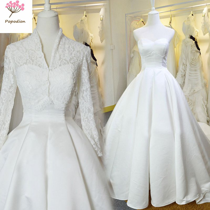 Wedding Dresses With Detachable Tail: Aliexpress.com : Buy Wedding Dresses Detachable Shawl Long