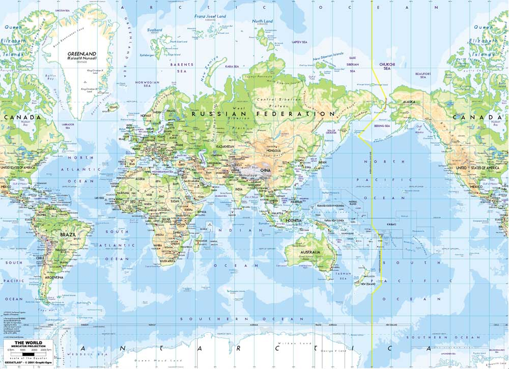 Rz Dt 061 Wholesale The World Map Oil Painting Print On Canvas