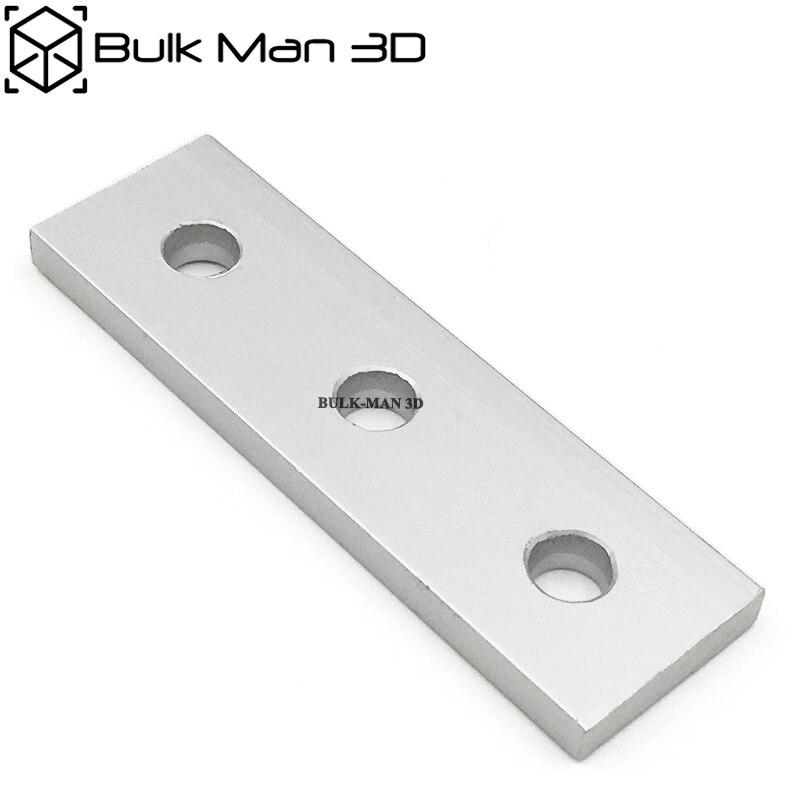 100pcs Lot wholesale Aluminum Alloy 3 Hole Joining Strip Plate for Openbuilds CNC Router 3D Printer