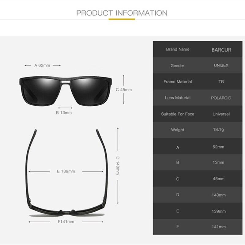 Image 5 - BARCUR Design Ultralight TR90 Sunglasses Men Polarized Driving Sun glasses Male Outdoor-in Men's Sunglasses from Apparel Accessories on AliExpress