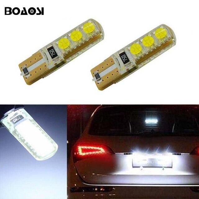 BOAOSI 2x Canbus לא שגיאת T10 W5W 5050SMD אור לוחית רישוי LED עבור סובארו אאוטבק Legacy פורסטר אימפרזה טרייבקה
