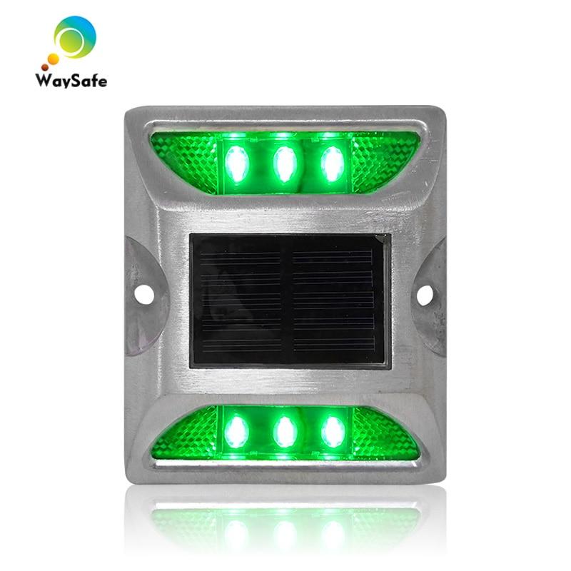 Flash Mode Green LED Lights Aluminum Housing CE RoHS Approved Solar Power Deck Dock Road Marker