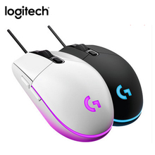 Logitech g102 wired gaming mouse ic prodigy 16.8 m cor rgb retroiluminado souris gamer 8000 dpi mause computador óptico gaming mouse