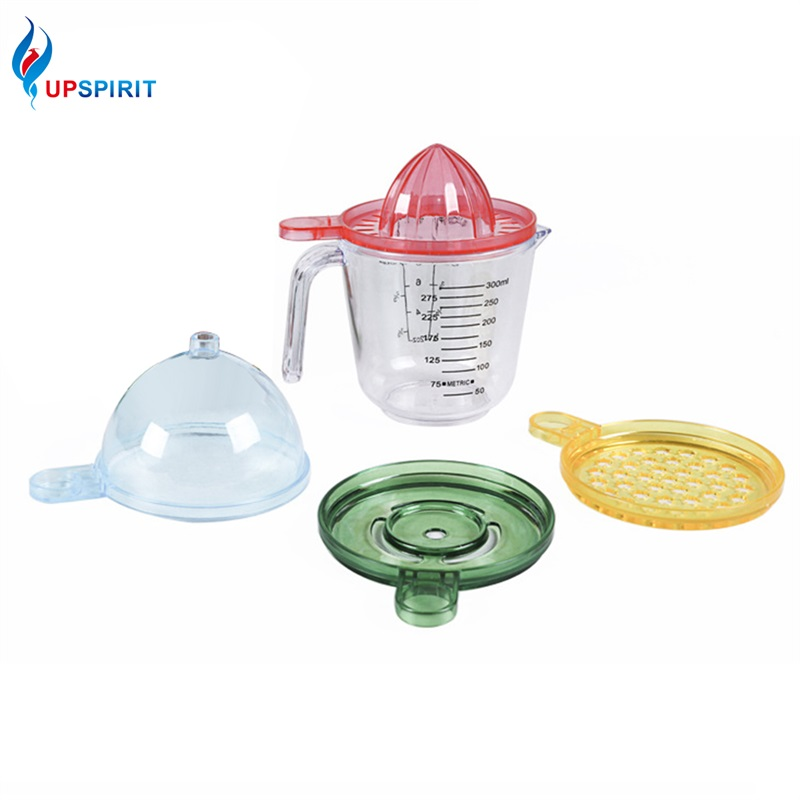 Upspirit Manual Fruit Juice Squeezer Reamer with Measurement Cup Orange Lime Citrus Press Juicer Vegetable Tools Kitchen Gadgets