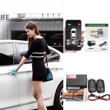 Бесключевой вход Центральный замок кнопка Зажигания дверной замок автомобиля сигнализация SmartPhonePKE управление Автомобильная сигнализация для дизельного Ford