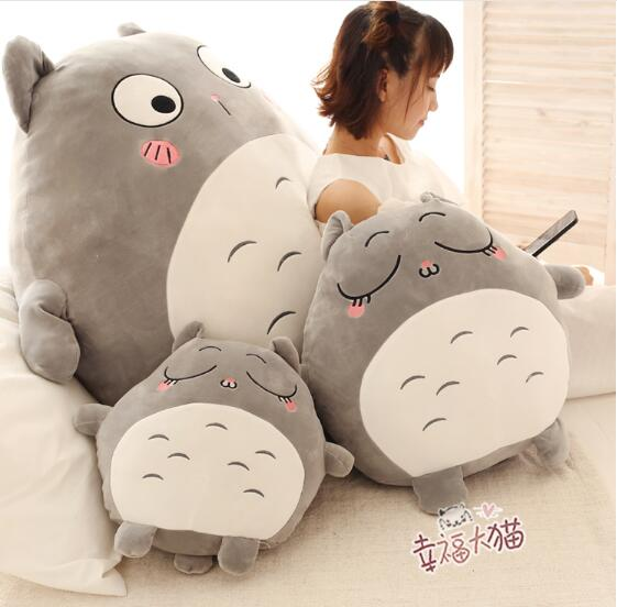 70cm Feather cotton My Neighbor Totoro doll big Totoro cushion stay cute adorable plush toy birthday gift lovely my neighbor totoro animal shapes doll tonari no totoro cute lotus leaf totoro toy children s day special gift gh245