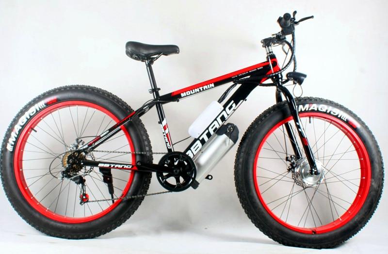 Precio especial 26 pulgadas de batería de litio, bicicleta eléctrica, alquiler de playa, motocicleta de invierno 500 W/350 W bateador de bicicleta de montaña