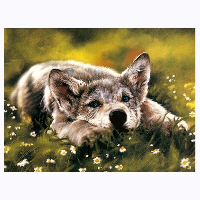 dise/ño de perro de 14 x 18 pulgadas Perro-1 Kit de pintura de diamante para adultos 100/% taladro completo 5D DIY diamante punto de cruz