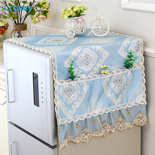 Refrigerator Dust Cover European Cover towel With Storage Bag kitchen organizer home decor DIY washing machine Microwave cover cover co173 05 cover
