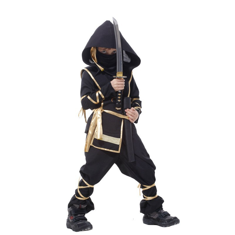 24Hours Ship Kids Dragon Ninja Costumes Purim Party Boys Girls Warrior Stealth Samurai Cosplay Assassin Fancy Costumes