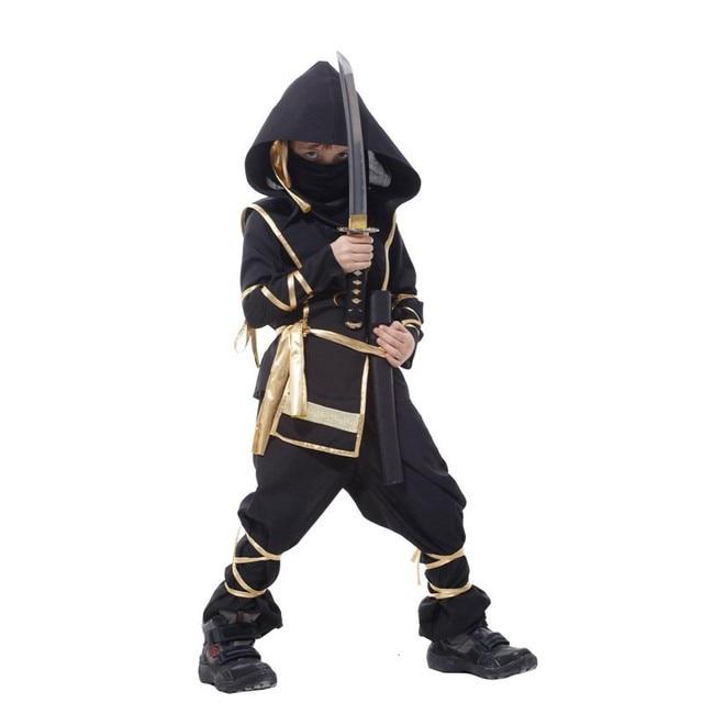 Kids Dragon Ninja Cosplay Costumes Halloween Carnival Party Boys Warrior Stealth Fancy Costumes