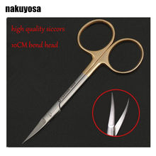 high quality 10CM bend head medical surgical eye scissors beauty scissors cut tissue scissors(China)
