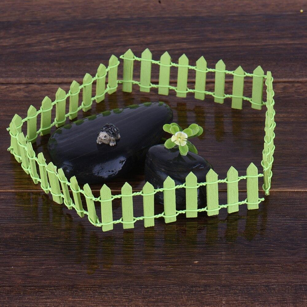 5pcs Miniature Small Wood Fence DIY Fairy Garden Micro