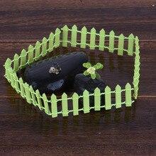 Miniature Small Wood Fence DIY Fairy Micro Dollhouse Plant Pot Decor Garden