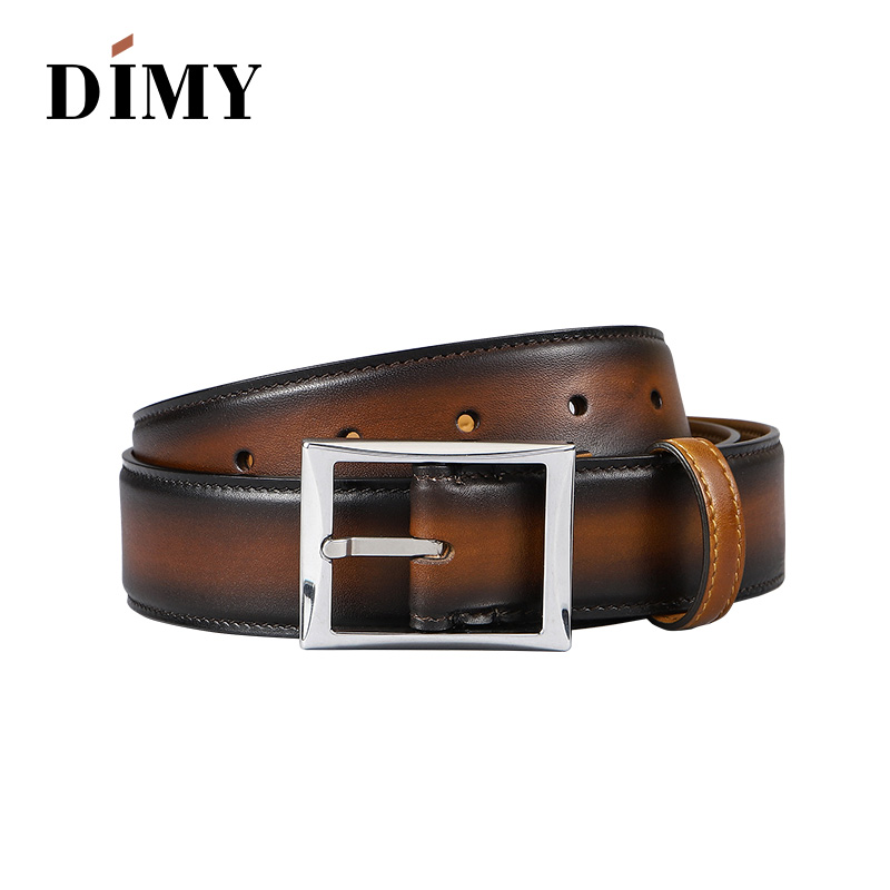 100 Cowhide Genuine Leather Belts For Men Designer Pin Buckle Business Fashion Belt Hand brushed Retro Letter Youth Belts Wild in Men 39 s Belts from Apparel Accessories
