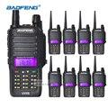 8 unids walkie talkie baofeng 8 w uv-5s ip67 impermeable al aire libre de dos vías de radio vhf uhf 136-174/400-520 mhz 2800 mah batería de li-ion