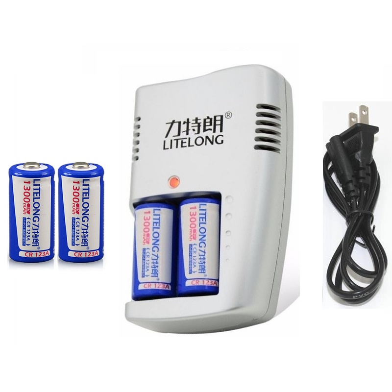 4 stücke CR123A 3 V lithium-batterie 123 kamera lithium-batterie 16340 taschenlampe batterie + 3 V Ladegerät