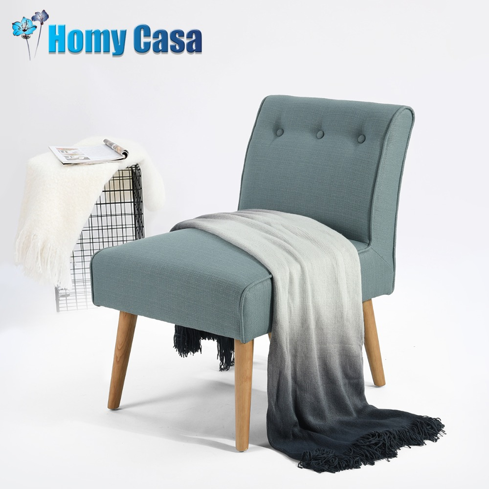 HOMY CASA Accent chair fabric sofa with wooden legs for living room furniture sectional  ...
