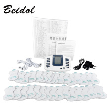 JR309 electric muscle stimulator Massageador pads Tens Acupuncture Therapy Machine Massager Slimming Body Treatment Health Care 10pcs lot gold hand electrode pads for tens acupuncture digital therapy machine jr 309 slimming electric body massager pads
