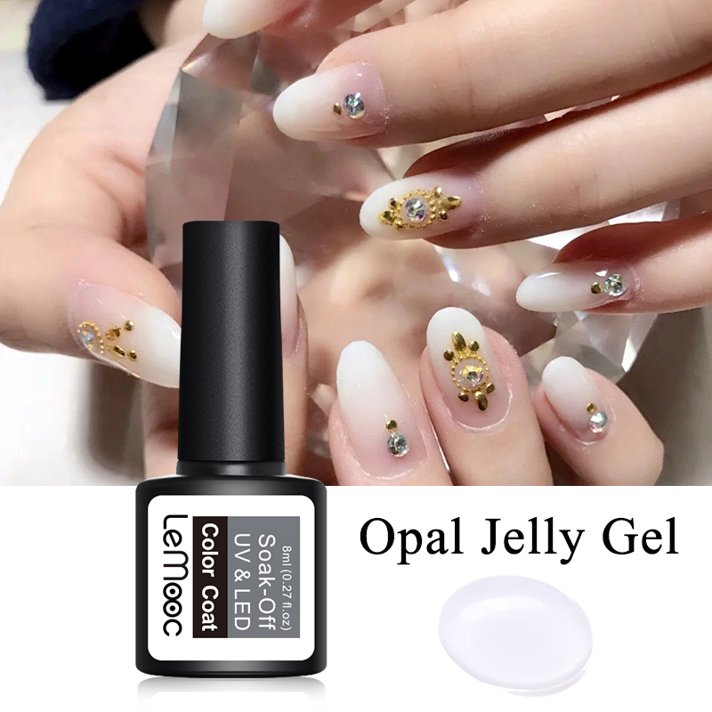 lemooc 8ml opal jelly nail gel