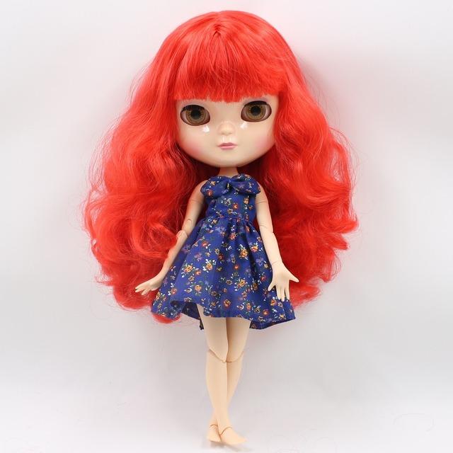 ICY Neo Blythe Doll Red Wavy Hair Azone Body