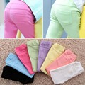 New autumn baby Clothing Hot Girls Jeans Candy Color Skinny Children Pants Baby Casual Long Pants toddler girls  Trousers
