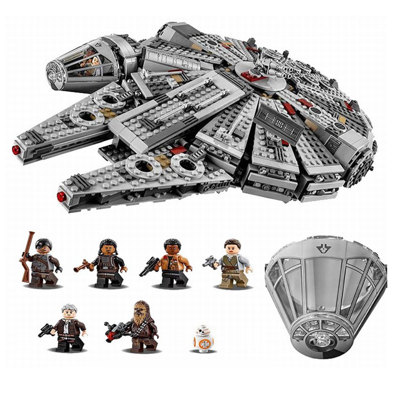 Star Wars Millennium Falcon Toys Building Blocks Model Kit Marvel Minifigures Legoe Compatible