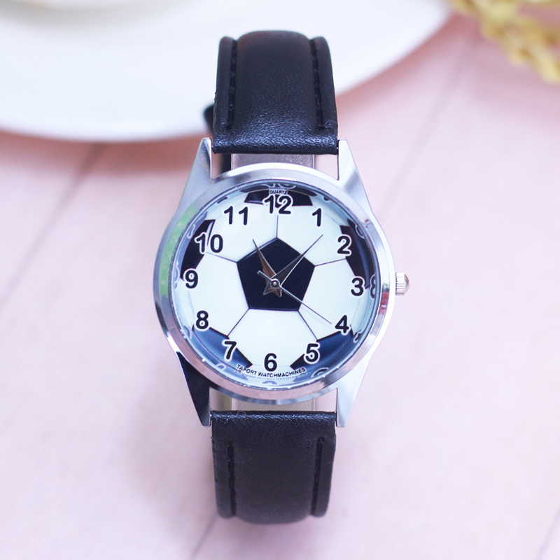 2018 Men Children Boys Cool Cartoon Football Personality Quartz Wrist Watches Students Fashion Electronic Leather Strap Watches