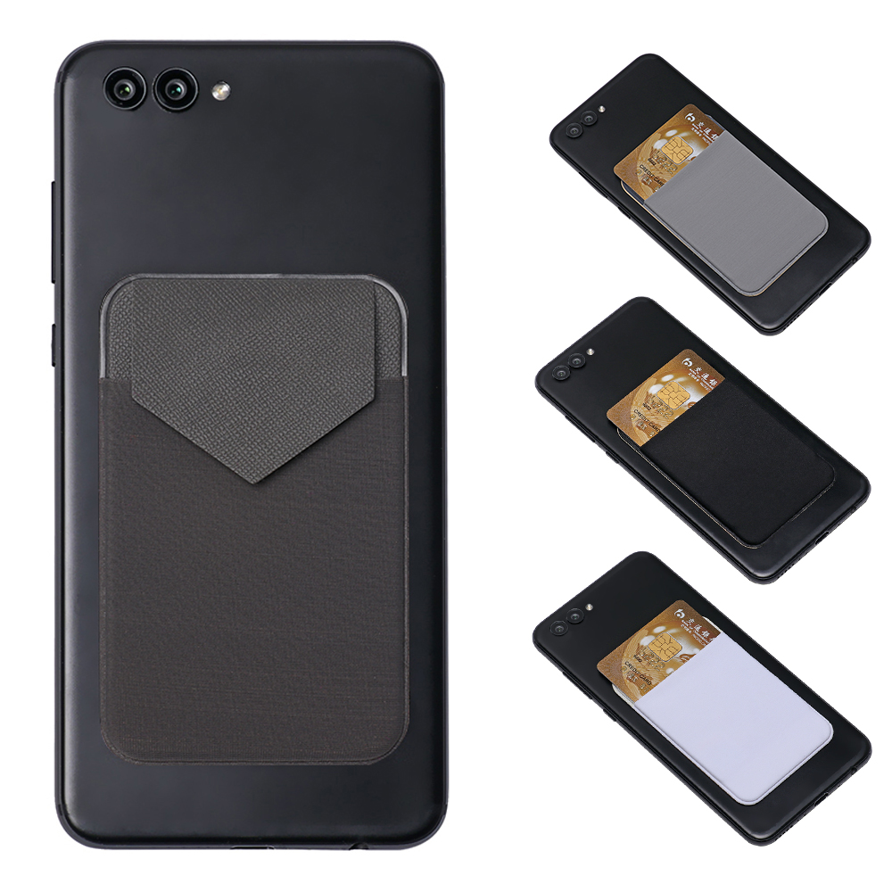 Universal Cellphone Wallet Lycra Card Holder Men Elastic Mobile Phone Wallet Credit ID Card Holder Adhesive Pocket Sticker Case