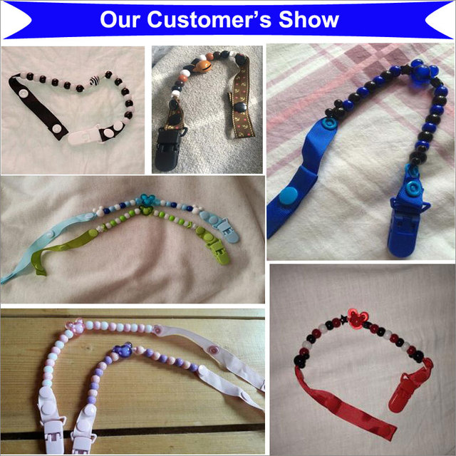 Baby Pacifier Chain Beads Pacifiers for Baby Teat Holders Pacifier Clips for Dummy Pacifier Leashes&Cases Clip Nipple for Child  4