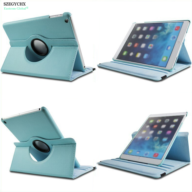 For iPad Mini 1 Mini 2 Mini 3 Case SZEGYCHX 360 Rotation PU Leather Smart Wake Flip Cover with stand function