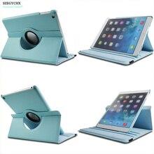 SZEGYCHX Nuevo Para iPad Mini1 Mini2 Mini3 A1538 A1550 caso 360 Rotación PU de Cuero Elegante de la Cubierta Del Tirón con el soporte función